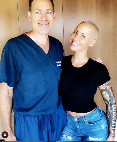 Amber Rose with Dr. Diamond