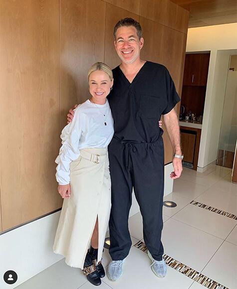 Becca Tobin with Dr. Diamond