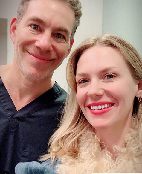 January Jones with Dr. Diamond