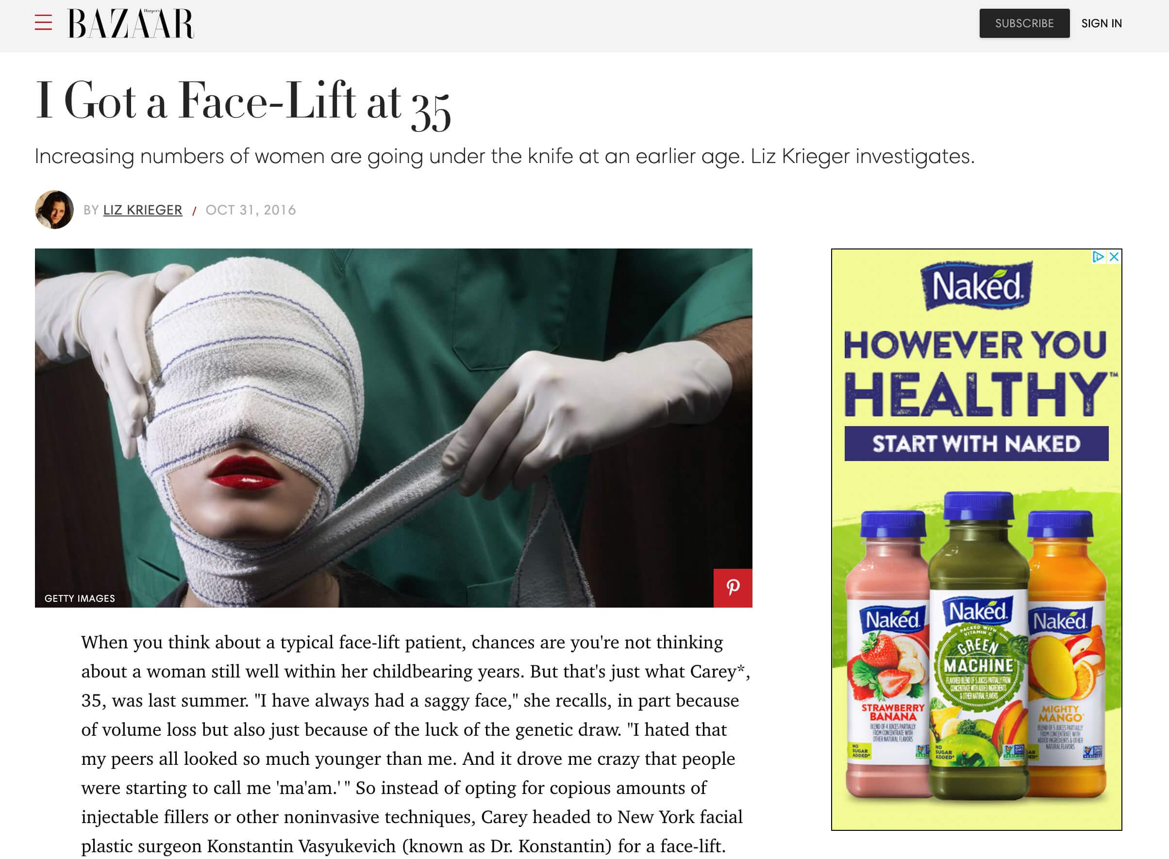 Bazaar News article