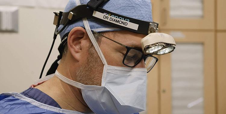 Dr. Jason B. Diamond in surgery